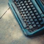 cropped typewriter